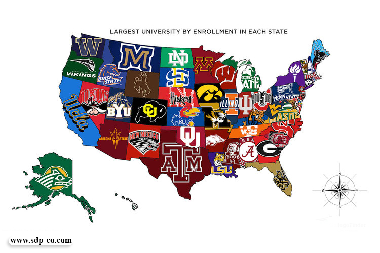 map of universities